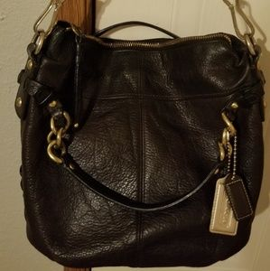 Coach all leather Brooke carryall